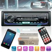 Радио MP3 плеър за кола Thunder TTUSB-308BT, Bluetooth, USB / SD / AUX / FM радио, RDS, падащ панел, дистанционно, 4x45W